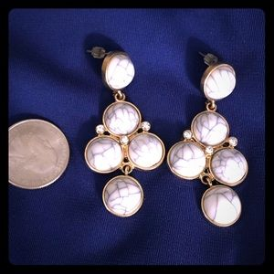 Jewelry - Earrings. White Gray Gold. Never worn.